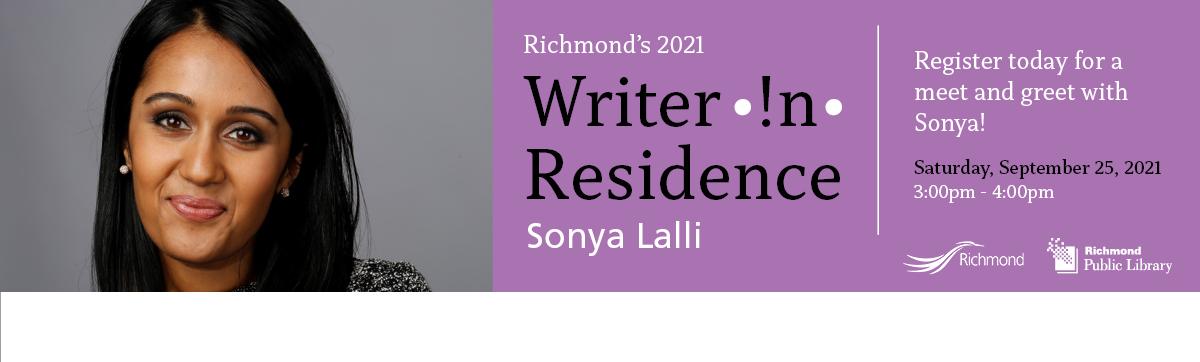 Writer In Residence